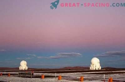 De gordel van Venus daalde af over het observatorium in Paranal