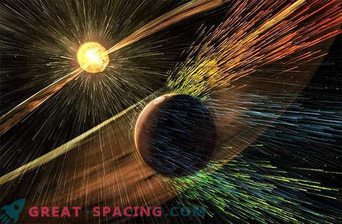 The sun will push the entire Martian atmosphere into outer space