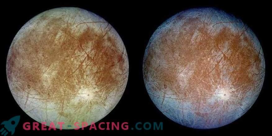 Picos de hielo en el satélite europeo de Júpiter