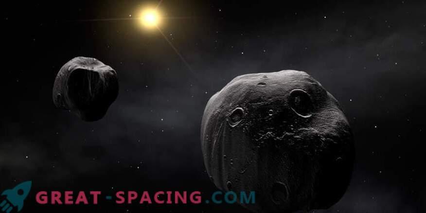 Observatoria verenigen zich om een zeldzame dubbele asteroïde te bestuderen.